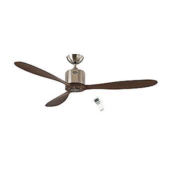 Ventilador de techo DC Aeroplan Eco cromo / nuez 132cm/52