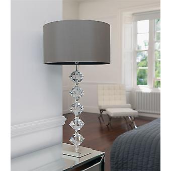 Avmarkera Crystal bordslampa inklusive skugga - Endon VERDONE