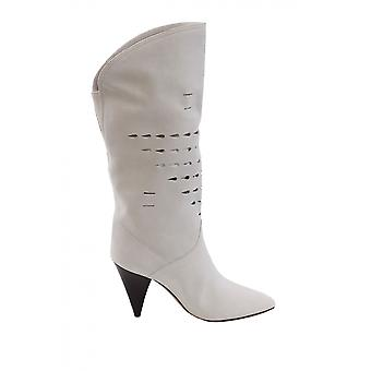Isabel Marant Bo029219e004s20wh Women's White Leather Boots