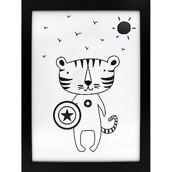 Grindstore Superhero Tiger Canvas Print