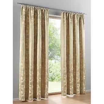 Heine Home 2x Decoscarf Jaquard Quality Universal Ribbon beige HxB 175x140 cm