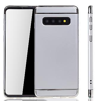 Samsung Galaxy S10 telefoon geval bescherming geval bumper hard cover Zilver