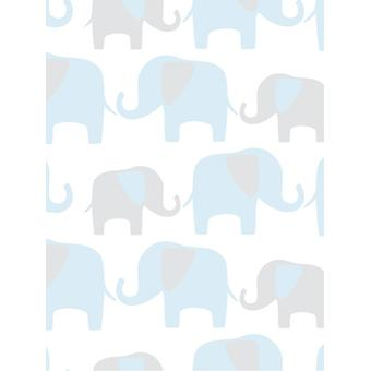 NuWallpaper Elephant Parade Peel And Stick Wallpaper Fine Decor