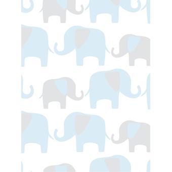 NuWallpaper elefante desfile casca e vara wallpaper Fine decor