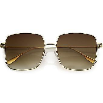 Übergroße Mode moderne dünne Metall Quadrat Sonnenbrille