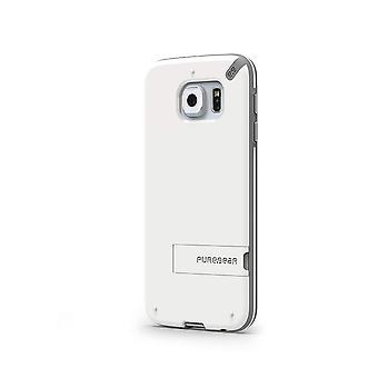PureGear Slim Shell case para Samsung Galaxy S6-branco/cinza