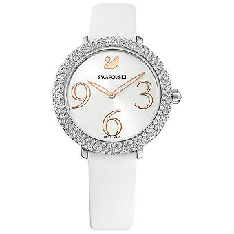 Swarovski Crystal Frost Watch - Leather Strap - White - Stainless Steel - 5484070