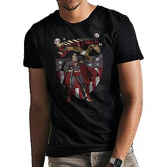 Superman Adults Unisex Shield And Eagle Design T-Shirt