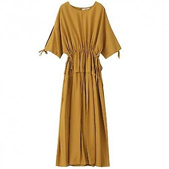 Wilde Halbärmel Damen langes Kleid