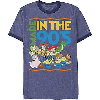 Toy Story Made in 90' s heather blue Ringer maglietta