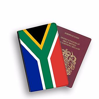 SOUTH AFRICA Flag Passport Holder Style Case Cover Protective Wallet Flags design