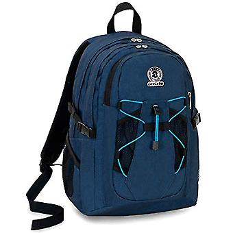 Backpack Invicta Active Benin Eco-Material - Blue - 25 Lt - Double Compartment - Laptop Pocket Up 13'' - School & Outdoor