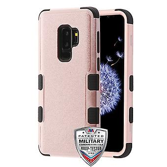 MYBAT Textured Rose Gold/Black TUFF Hybrid Protector Cover  for Galaxy S9 Plus