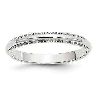 925 sterling zilver gepolijst gegraveerde 3 mm halve ronde milgrain band ring sieraden geschenken voor vrouwen - ring grootte: 4 tot 13,5