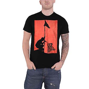 U2 T Shirt Under a Blood Red Sky Band Logo new Official Mens Black