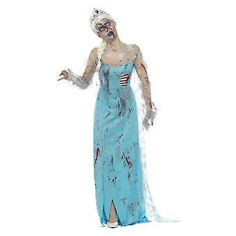 Womens Zombie frozen to Death Halloween Fancy Kleid Kostüm