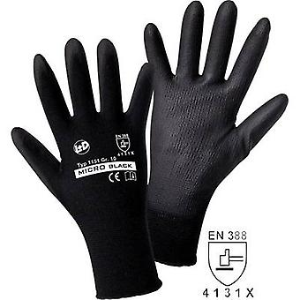 L+D worky MICRO preto Nylon-PU 1151 Nylon Protetor glove Size (luvas): 9, L EN 388:2016 CAT II 1 Pair