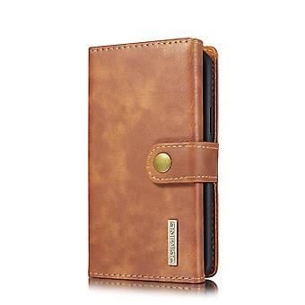 Dg. MING iPhone 11 Pro Split Leather Wallet Case-brown