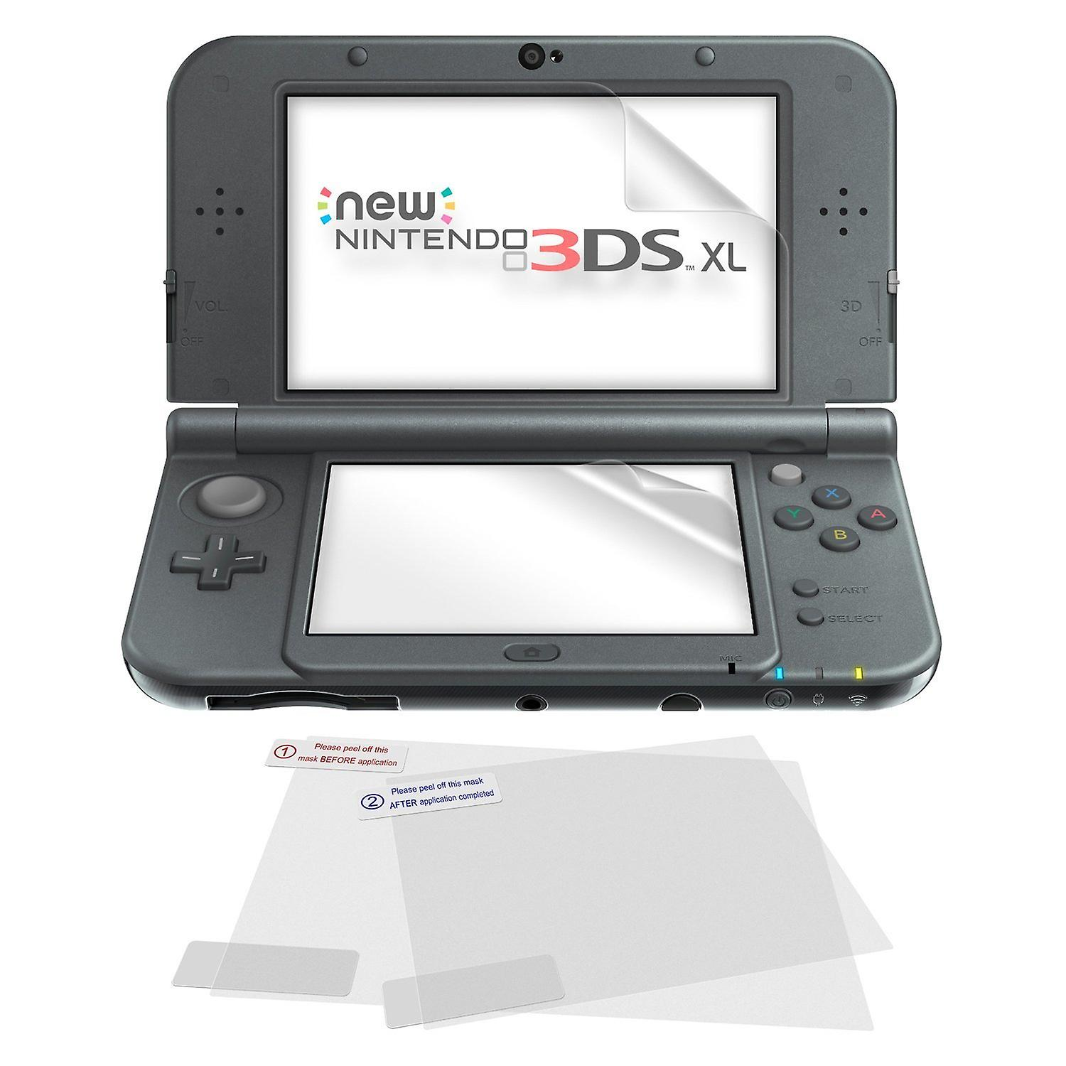 5 in 1 screen protector pack inc cloth for nintendo 3ds xl & new 3ds xl (edge to edge fit)