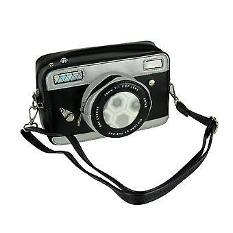 Zwarte Vintage camera vormige Cross Body Tas klein
