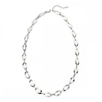 Beginnings Sterling Silver Satin Finish Oval Link Necklaces N4220