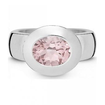 QUINN - Ring - Women - Silver 925 - Gemstone - Pink Quartz - Width 56 - 21002630