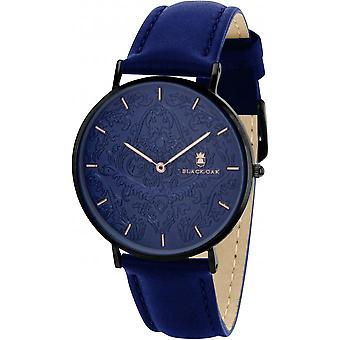 Black Oak BX8700B-005 - watch leather blue woman