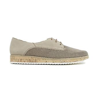 Paul Green 1069-00 Beige Nubuck Leather Womens Lace Up Shoes