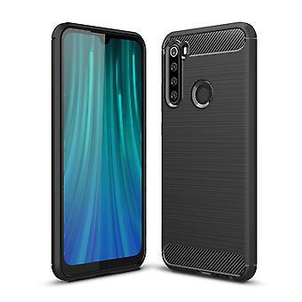 Xiaomi Redmi Note 8 TPU Case Carbon Fiber Optik Brushed Schutz Hülle Grau