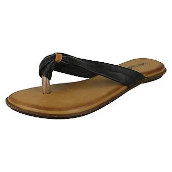 Womens Leather Collection Knotted Toe Post Sandal