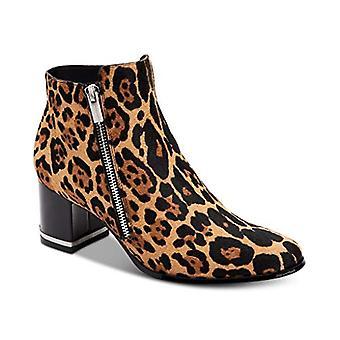 Calvin Klein Women's Fara Booties, Natural Winter Leopard, 7.5 M