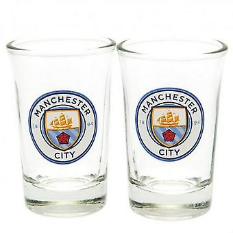 Manchester City FC Crest Shot Glass (2 kpl pakkaus)
