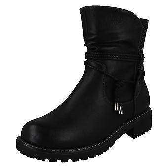 Ladies spot på tau stropp ankel støvler F50994