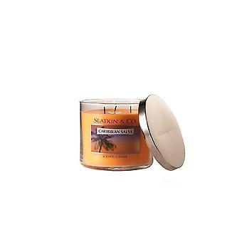 Banho & corpo obras Slatkin & Co. Caribe salsa scented vela 14,5 oz/411 g