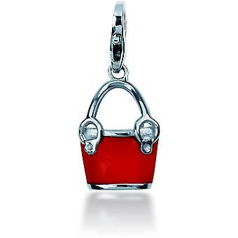 Charm Pierre Lannier JC99A123 - Charm Pendentif Seau Rouge Femme