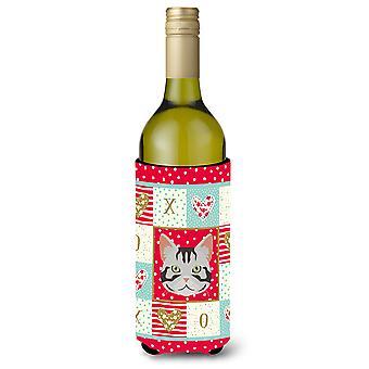 American Shorthair kissa viini pullon juoma eriste Hugger