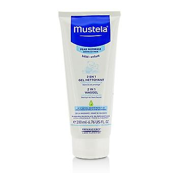 Mustela 2 in 1 corp & amp; Gel de curățare a părului-pentru piele normală-200ml/6.76 oz