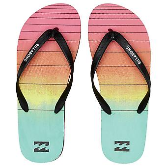 Billabong Water Resistant Mens Sandals ~ Tides 73 Stripe neon