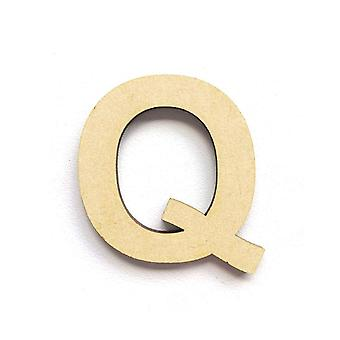 Wooden Large Capital Alphabet Letters - Q