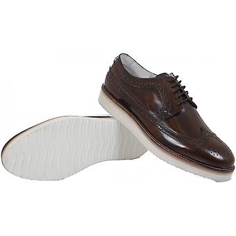 Paolo Vandini Shoes Taunley Leather Lace Up Brown Shoes