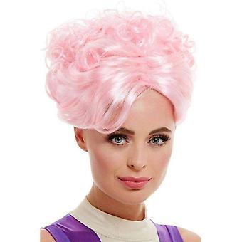 Trapez Künstler Perücke Erwachsene rosa