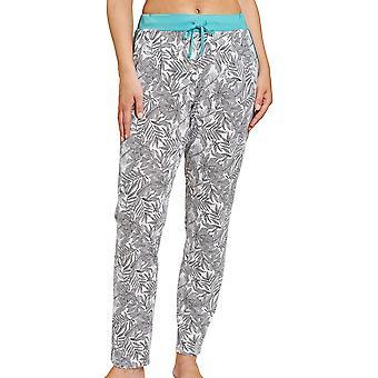 Rösch 1203219-15642 Naiset's Pure Fineliner Valkoinen Kukka Pyjama Pant