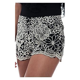 Daisy Print Spitze Shorts
