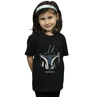 Star Wars Girls The Mandalorian Helmet Silhouette T-Shirt