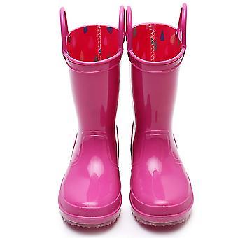 TRIPLE DEER Kids Light Up Rain Boots, Waterproof Lightweight Boots with Light...
