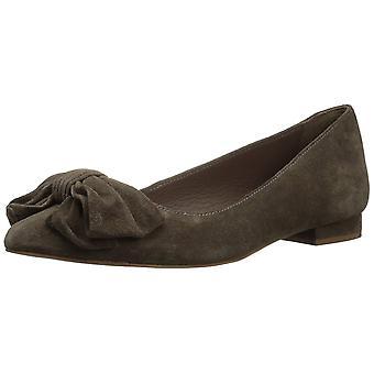 Mia Womens delsie Fabric Closed Toe Slide Flats
