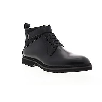 Zanzara Ginko  Mens Black Leather Lace Up Casual Dress Boots Shoes