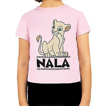Disney Lion King Nala Queen Of The Jungle Girl's Pink Short Sleeve T-Shirt