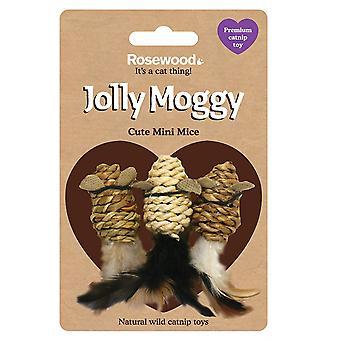 Rosewood Jolly Moggy Wild Catnip Toy Mini Ratones