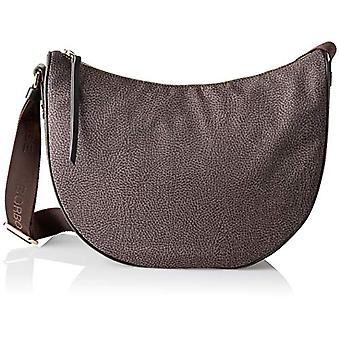 Borbonese 934261296 Brown Woman Shoulder Bag (Tundra/Moro Head) 30x32x12 cm (W x H x L)